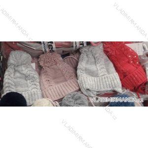 Čiapka s brmbolcom zimné dojčenská dievčenské (uni 44-46) POĽSKO PV718003
