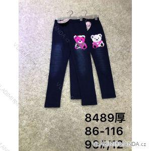 Legíny jeans teplé detské dorast dievčenské (86-116) ACTIVE SPORT ACT188489