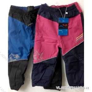 Nohavice šuštiakové zateplené flaušom dojčenské a detské dievčenské a chlapčenské (86-110) KUGO H200