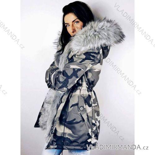Kabát zimné parka s kožušinkou dámska maskáč army (sl) K-ZELL TALIANSKÁ MÓDA a0bf8e64356