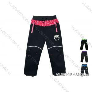 Nohavice softshell zateplené flaušom dojčenské detské dievčenské a chlapčenské s flaušový podšívkou (80-110) KUGO B210