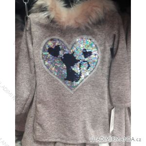 Mikina s kapucňou teplá detská dorast dievčenské (4-14let) TURECKO moda TM218204