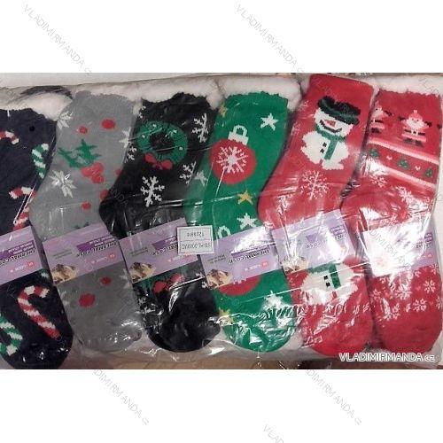 Ponožky teplé zateplené bavlnou dorast až dámske (35-38) ELLASUN 2049