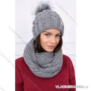 499fb5673 Čiapka s brmbolcom a šálom zimná dámska (one size) TURECKO ESIK116
