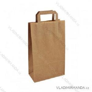 Papierová taška hnedá kraft 22 + 10x36 50ks / balenie