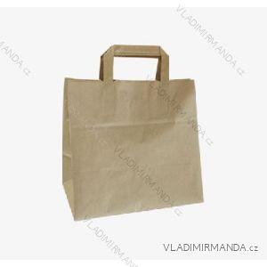 Papierová taška hnedá kraft 26 + 17x25 50ks / balenie