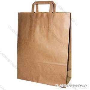 Papierová taška hnedá kraft 32 + 16x44 50ks / balenie