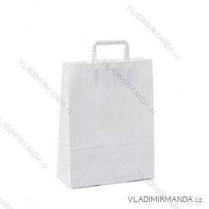 Papierová taška biela kraft 32 + 16x44 50ks / balenie