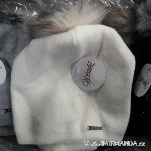 40c2fd9aa Súprava čiapka zimná kožušinová brmbolce a nákrčník dámska a dorast (uni)  POĽSKO PV918224