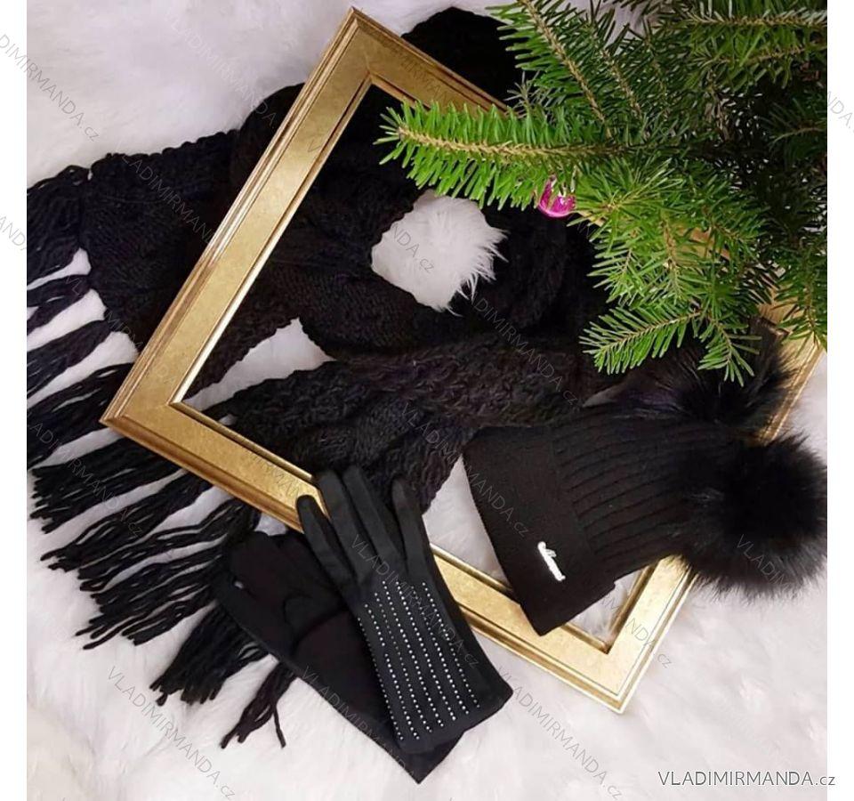 3f43859ec493 Čiapka súprava šál nákrčník rukavice čelenka dámska (one size) POĽSKO  PV618135