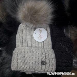 Čiapky zimné pletená dámska (uni) WROBI POĽSKO PV418244 5ed74612ffe