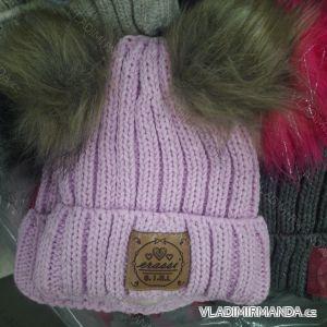 Čiapky zimné pletená dorast dievčenské (uni) ERASSI POĽSKO PV418249 2f849dedaad