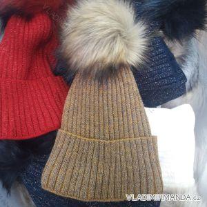 Čiapky zimné pletená dámska (uni) POĽSKO PV4182501 30637abf6c5