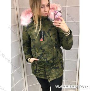 Kabát parka zimná dámska s kožušinkou maskáč (s-xl) DEREK HEART IM218170- 126dd1e45ce