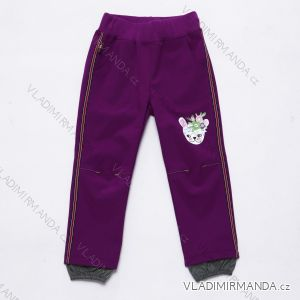 Nohavice slabé jarné softshellovej dojčenské dievčenské (92-110) WOLF B2981