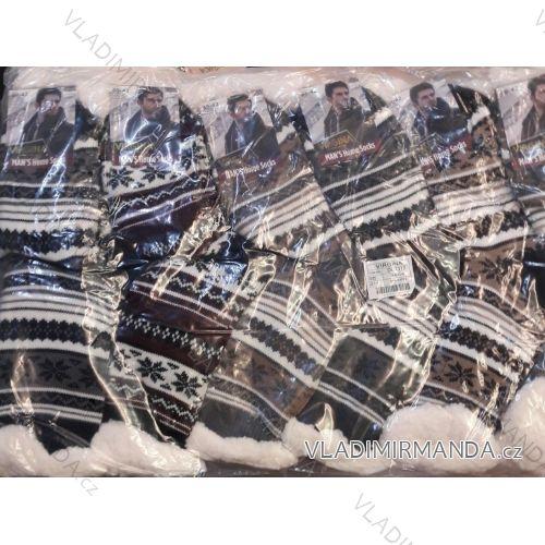 Ponožky zateplené bavlnou pánske (39-42, 43-46) VIRGIN DL7312