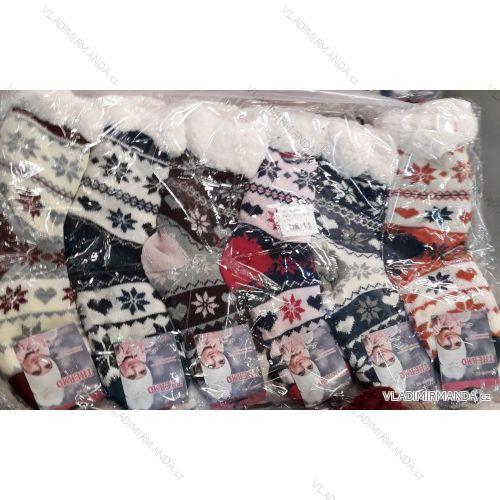 Ponožky zateplené bavlnou dámske (35-42) VIRGIN WW016-1
