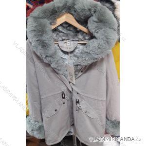 Bunda zimná s kožušinkou dámska (S-XL) Talianska MÓDA IM919026 4c2e8c31ba9