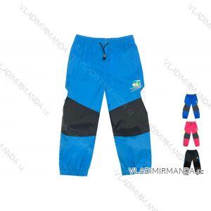 Nohavice šuštiakové bavlnená podšívka dojčenské a detské dievčenské a chlapčenské (86-110) KUGO K-701