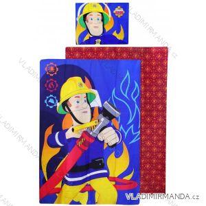 Posteľná bielizeň, obliečky požiarnik sam detské chlapčenské (140 * 200 + 70 * 90cm) SETINO 710-164