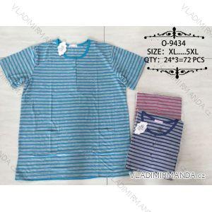 Tričko proužkované krátky rukáv pánske nadrozmerné (xl-5XL) Valerie Dream O-9434