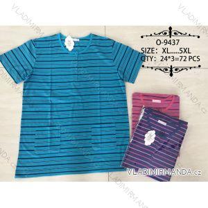 Tričko proužkované krátky rukáv pánske nadrozmerné (xl-5XL) Valerie Dream O-9437