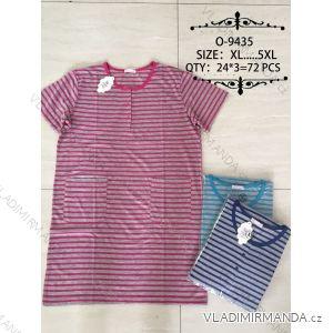 Šaty proužkované krátky rukáv dámské nadrozmerné (xl-5XL) O-9435