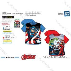Tričko krátký rukáv avengers dětské dorost chlapecké bavlněné (4-10 let) SUN CITY SE1347