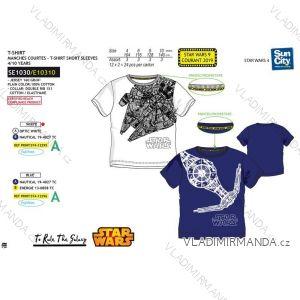 Tričko krátky rukáv star wars detské dorast chlapčenské bavlnené (4-10 rokov) SUN CITY SE1030