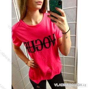 Tričko Vogue krátky rukáv dámské neon (uni s-l) ITALSKá MóDA IMC19145