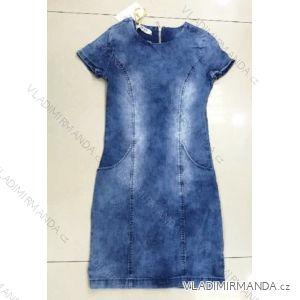 Džínové šaty krátký rukáv dámské (xs-xl) RE-DRESS MA119002/c