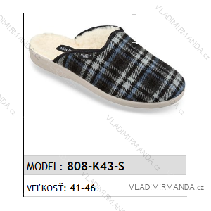 Papuče pantofle pánské (41-46) MJARTAN OBUV 808-K43-S