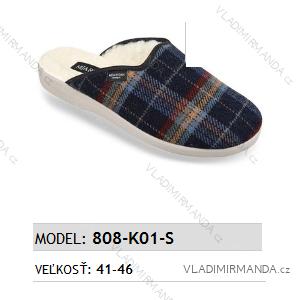 Papuče pantofle pánské (41-46) MJARTAN OBUV 808-K01-S