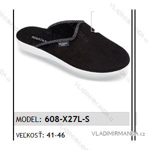 Papuče pantofle pánské (41-46) MJARTAN OBUV 608-X27L-S