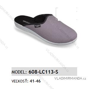 Papuče pantofle pánské (41-46) MJARTAN OBUV 608-LC113-S