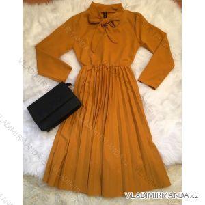 Šaty dlhý rukáv prekladaná sukne dámske (uni sl) TALIANSKÁ MÓDA IM9181020