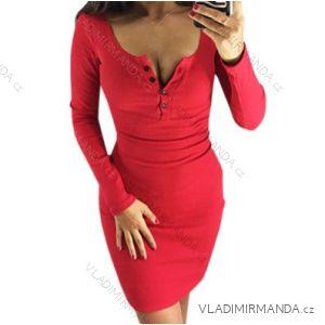 Šaty s gombíkmi dlhý rukáv dámske (s-xl) AFASHION AF18212