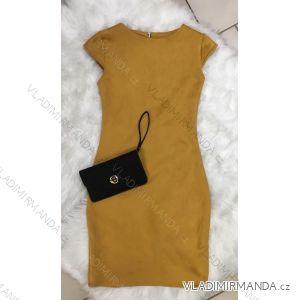Šaty imitácia brúsené koženky dámske (uni s-l) TALIANSKÁ MÓDA IM9181010