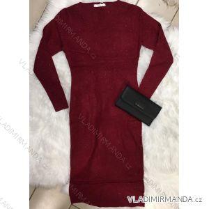 Šaty úpletové dlhý rukáv dámske (uni sl) D AND Z fasion FRA118DZ-9888