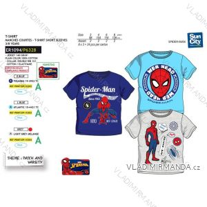 Tričko krátky rukáv spider man detské chlapčenské bavlnené (3-8 rokov) SUN CITY ER1094
