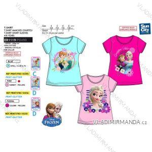 Tričko krátky rukáv frozen detské dievčenské bavlnené (4-8 rokov) SUN CITY ER1119