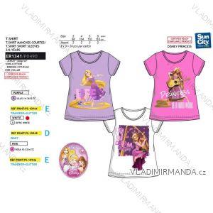 Tričko krátky rukáv princess detské dievčenské bavlnené (3-6 rokov) SUN CITY ER1341