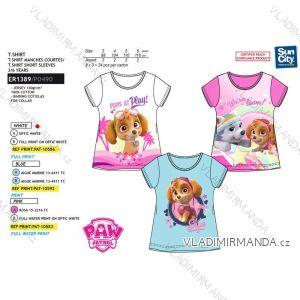 Tričko krátky rukáv paw patrol detské dievčenské bavlnené (3-6 rokov) SUN CITY ER1389