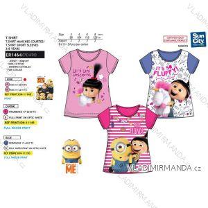 Tričko krátky rukáv Mimoni detské dievčenské bavlnené (3-8 rokov) SUN CITY ER1464