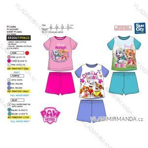 Pyžamo krátke paw patrol detské dievčenské bavlnené (3-6 rokov) SUN CITY ER2067