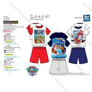 Pyžamo krátke paw patrol detské chlapčenské bavlnené (3-6 rokov) SUN CITY ER2082
