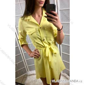 Šaty košeľové hrubé 3/4 dlhý rukáv dámske (uni sl) TALIANSKÁ MÓDA IMC19017