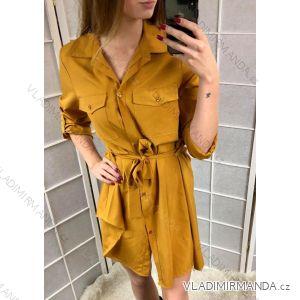 Šaty košeľové 3/4 dlhý rukáv dámske (uni sl) TALIANSKÁ MÓDA IMC181128