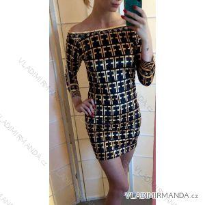 Šaty elegantné společenké dámske (sl) Talianska MÓDA IMT19014