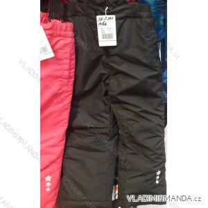 Nohavice zimné zateplené nepremokavé lyžiarske detské dievčenské a chlapčenské (110-140) B305B